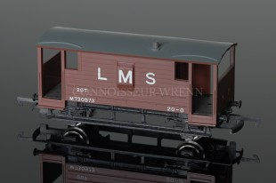 Wrenn 20T L.M.S Brown Guards Van no.M730973 model reference W4311P