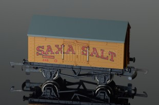 "Wrenn Salt Wagon ""SAXA SALT"" 10T Low Roof Van Rolling Stock W4665P"