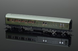 Hornby Model Railways SR Green Maunsell Four Compartment 3rd Class Coach R4394A