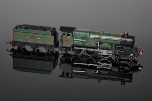 "Wrenn 4-6-0 Castle Class named ""Devizes Castle"" GW Green Locomotive W2222"