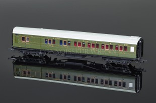 Hornby Railways SR Green Maunsell Brake Compsite Coach R4318C