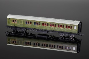 Hornby Model Railways SR Green Maunsell Brake Composite Coach R4318A