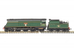 "Hornby Model Railways BR Late Crest ""Bude"" 34006 West Country Class Loco R3310"