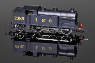 "Wrenn W2215 ""LMS 2385"" Plain Black Livery Class N2 Tank 0-6-2T Locomotive"