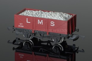 "Wrenn W5032 Coal Wagon ""LMS"" alternative 12T Open with Load Rolling Stock"