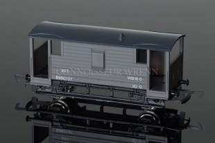 Wrenn BR GREY 20T (EX L.M.S) Guards Van no.B950127 model reference W5090