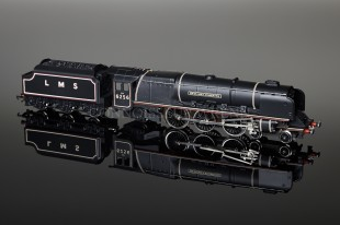 "Wrenn ""Sir William Stanier 6256"" Duchess Class 8P 4-6-2 LMS Black Locomotive W2227A"