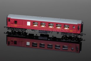 "Wrenn W6009 LMS Brake 2nd Class Red ""PULLMAN"" Passenger Coach"