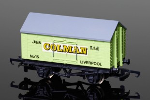 "Wrenn Salt Wagon ""Colman"" 10T Low Roof Van RARE light writing W5024"