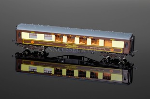 "Wrenn 1st Passenger Coach PEGASUS ""G / ARROW""  BROWN TABLE! W6012"