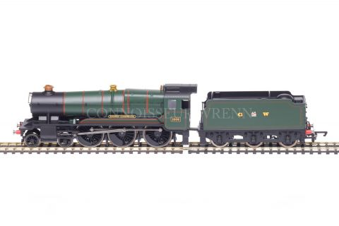"""Hornby County Class """"County of CORNWALL"""" 4-6-0 GW Green running no.1006 model R2937"""