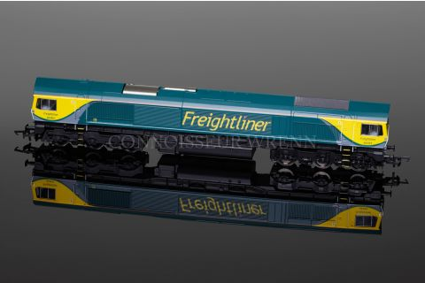 """Hornby """"FREIGHTLINER"""" CO CO DIESEL ELECTRIC Class 66 no. 66504 model R3345"""